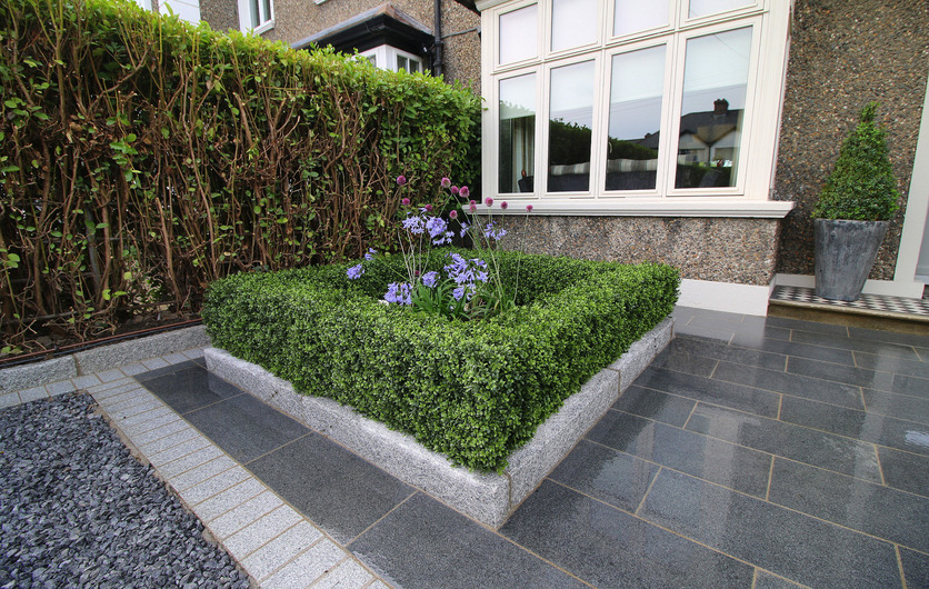 Artificial Boxwood Hedge installation in Terenure garden