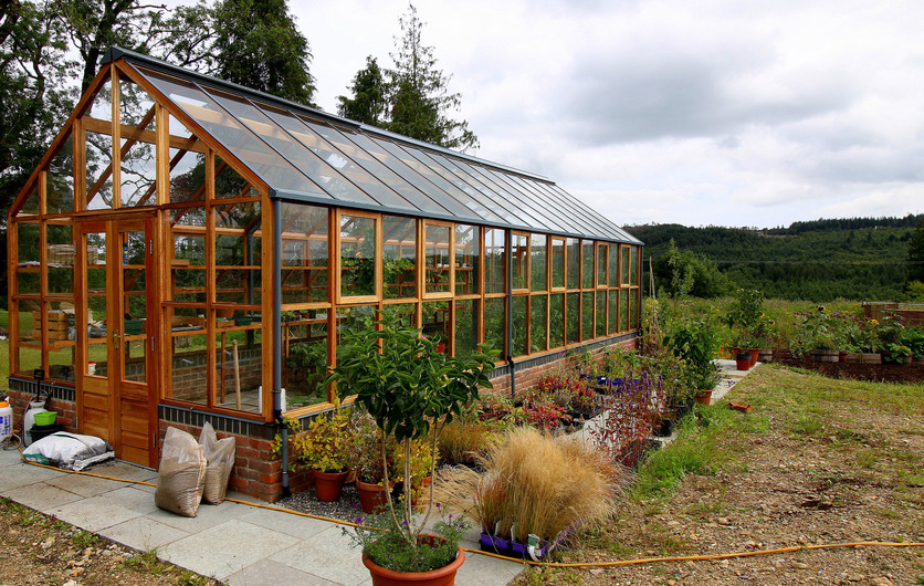 Classic Twelve Greenhouse in Wicklow - installed by Owen Chubb Landscapers