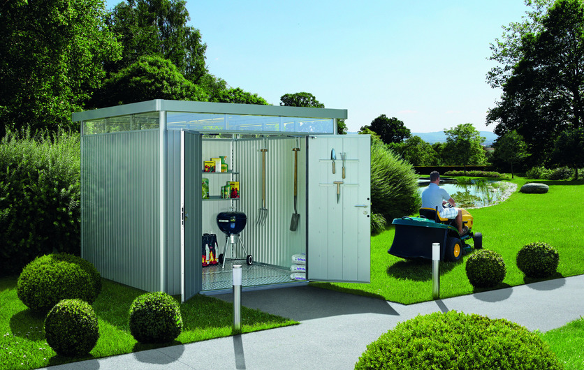 Biohort HighLine Steel Garden Shed - now on sale, get the best prices in Dublin at GardenStudio