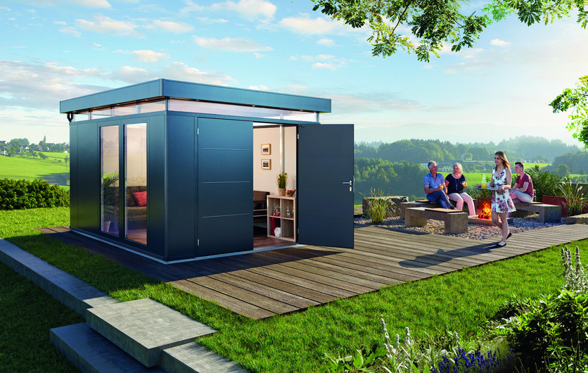 Biohort's stunning Casa Nova, an innovative Steel Garden Shed - now on sale, get the best prices in Dublin at GardenStudio