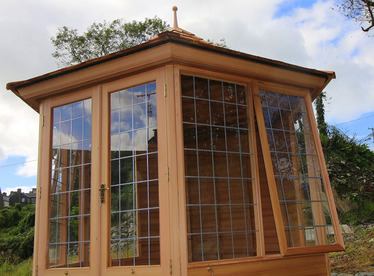 A 3.0m six-sided Summerhouse installation in Skibbereen, Co Cork