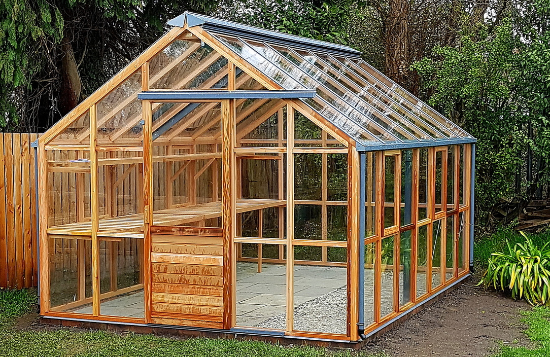 Choosing the right the timber Greenhouse, Owen Chubb Landscapers