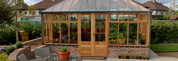 Grand Glasshouse Dublin supplied + fitted by Owen Chubb Garden Landscapers
