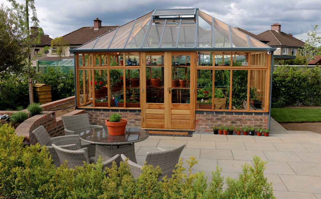 Shape and size matter when choosing the right Greenhouse by Owen Chubb Landscapers, Dublin