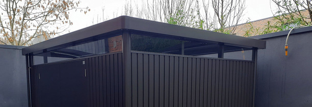 Biohort HighLine Garden Shed - supplied + fitted in Ballsbridge, Dublin 4 | Owen Chubb Garden Landscapers