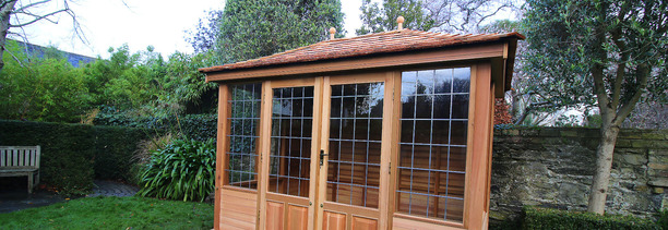 A 3.0m x 2.0m Wooden Garden Summerhouse installed in Ballsbridge, Dublin 4. | Victorian Garden Buildings. Tel 087-2306 128
