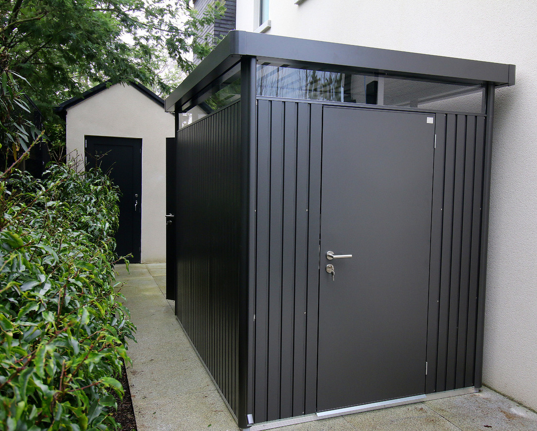 The ultimate in contemporary steel garden shed design & engineering | The Biohort HighLine Garden Shed | Owen Chubb Garden Landscapers