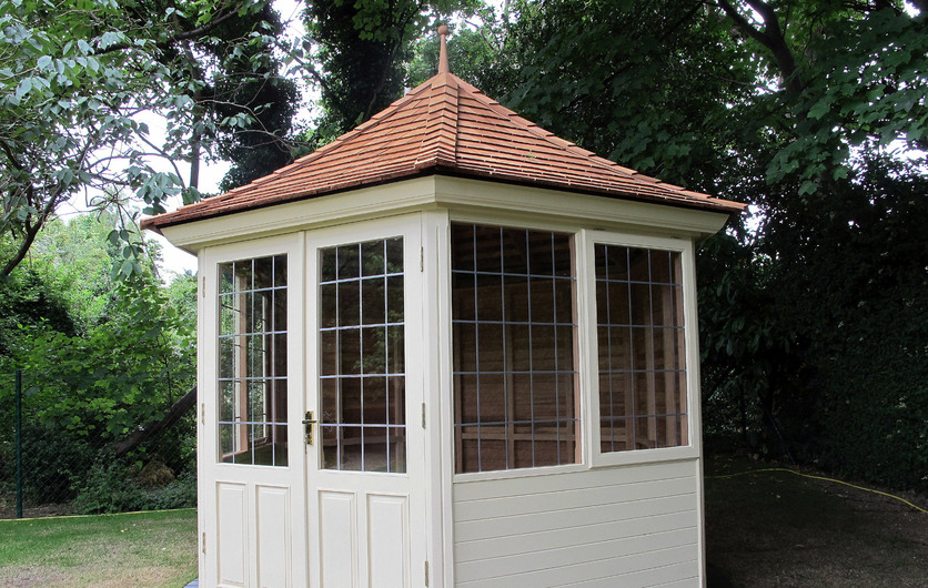 Classic Timber Summerhouse with painted finish in Booterstown, Co Dublin.