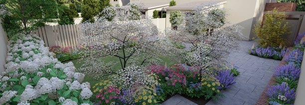 Garden Design Churchtown | 3D Design Visuals for Family Garden in Dublin 14