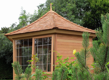 Cedar Summerhouse installation in Delgany, Co Wicklow | Victorian Garden Buildings | 087-2306 128