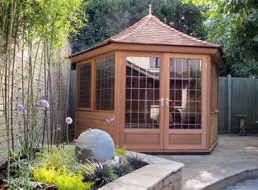 Cedar Garden Summerhouse installation | Greystones, Co Wicklow | Owen Chubb