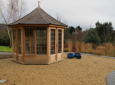 Cedar Garden Summerhouse installation | Rocky Valley, Co Wicklow | Owen Chubb
