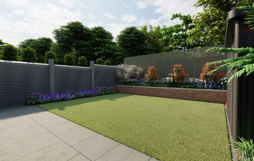 Design Ideas for Bespoke Fencing & Raised Planting Beds in Small Family Garden in Blackrock | Owen Chubb Garden Design services. Tel 087-2306 128