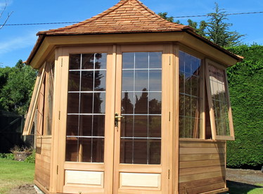 Cedar Garden Summerhouse installation | Greystones, Wicklow | Owen Chubb