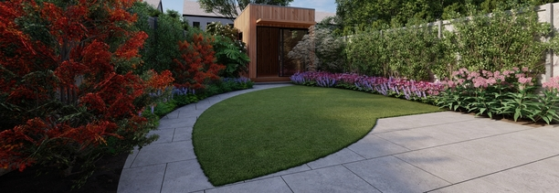 Garden Design in Maynooth, Co Kildare | 3D Design Visuals for small Family Gardens