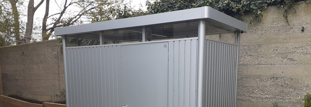 Biohort HighLine H1 Garden Shed - supplied + fitted in Churchtown, Dublin 14 | Owen Chubb Garden Landscapers