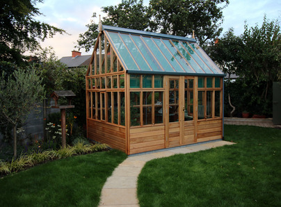 RHS Wisley Planthouse installation Terenure - traditional Victorian timber Greenhouse