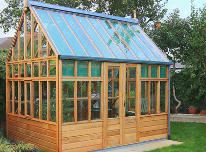 RHS Wisley Planthouse with cedar base panels installation in Terenure, Dublin 6W