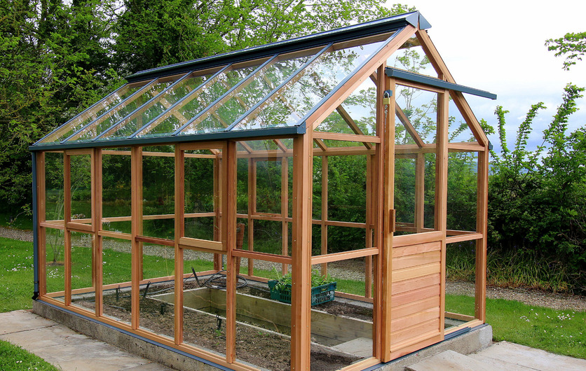 Classic timber greenhouses in western red cedar - the superior timber greenhouse
