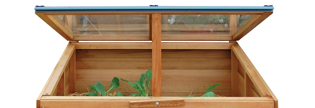 Classic Timber Coldframe made with Western Red Cedar with toughened glass lid | Supplied + fitted in Ireland.  Owen Chubb 087-2306 128