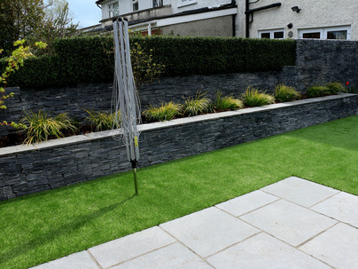 Boxwood Wall Cladding & Privacy Screening in Rathfarnham garden