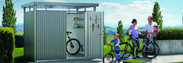 Best value in Biohort Highline Steel Garden Sheds, from Owen Chubb Garden Landscapers